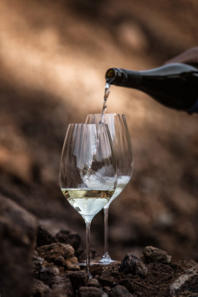 Sauvignon Blanc&Traminer wachsen auf Vulkangestein im Vulkanland Steiermark,