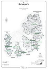Karte der Ortsweingebiete der Weststeiermark - Ortswein Steiermark