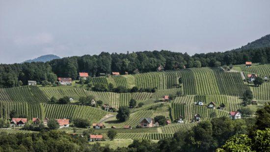 Südsteiermark - Anbaugebiet Vulkanland - Die geographische Lage von Weinsteiermark