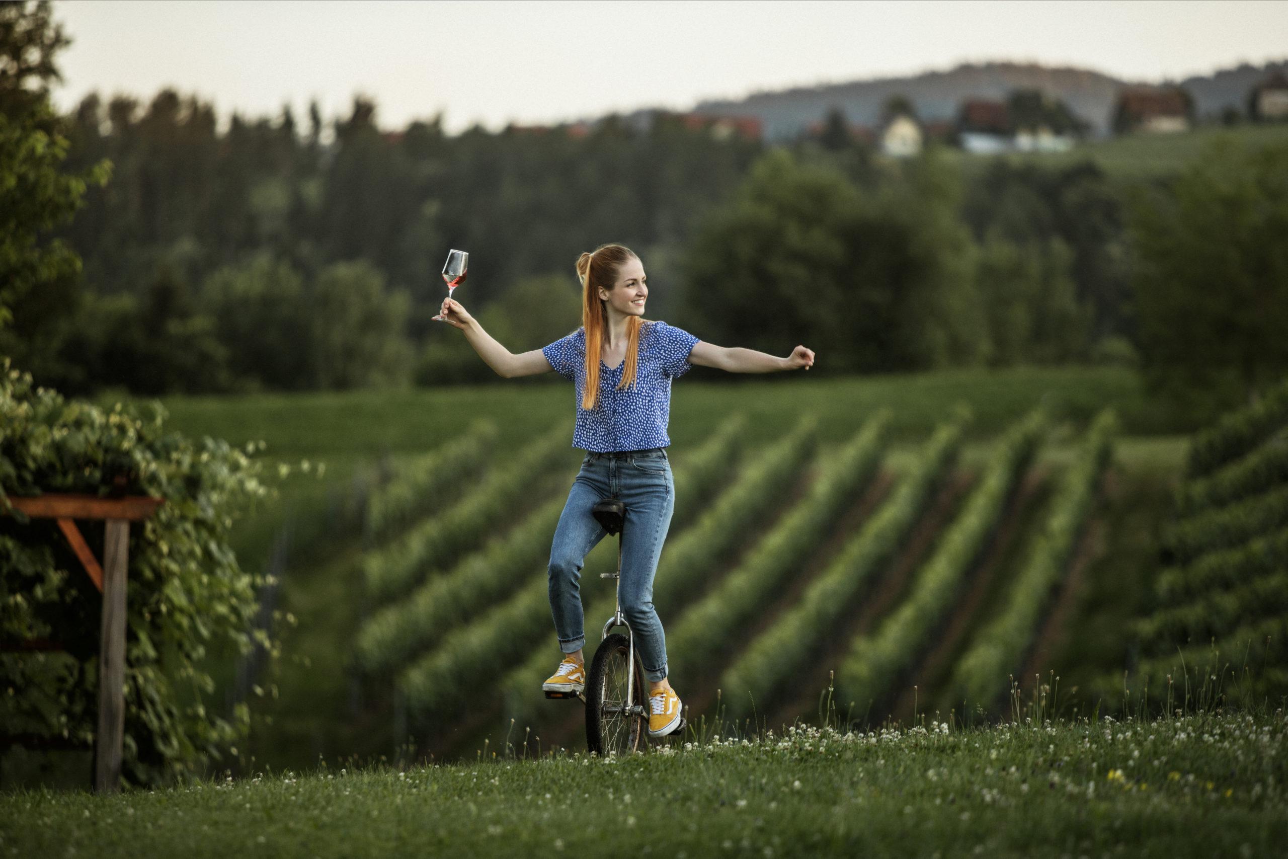 Schilcher Weinstraße im Westen der Weinregion Steiermark
