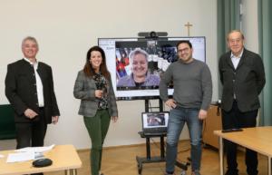 Werner Luttenberger, Margret Reinprecht, Paula Bosch (im TV), Stefan Potzinger und Heinz Reitbauer sen. (von links) - News Wein Steiermark